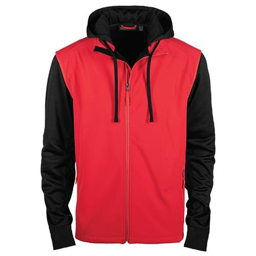 Alpha Softshell Vest with Tech Fleece Sleeves and Hood